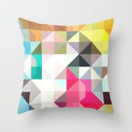 Color Story - Pixelated … Throw Pillow