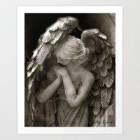 Angel Praying Art Print