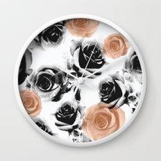 pixel rose Wall Clock