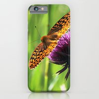 iPhone & iPod Case featuring Great Spangled Fritillary by Ornithology