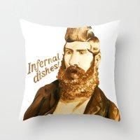 Infernal dishes Throw Pillow