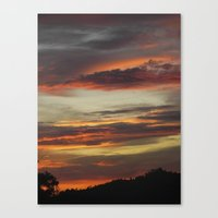 Canvas Print featuring Caribbean Sunset I by SmallIslandInTheSun