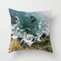Kirk Creek, Big Sur Throw Pillow
