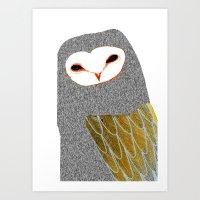 Barn Owl, Owl Art, Owl I… Art Print