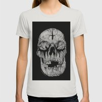Black blooded Womens Fitted Tee Silver SMALL