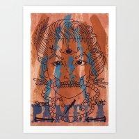 Pamela Skulz And Her 'se… Art Print