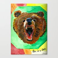 This Is A Bear Canvas Print