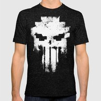 Space Punisher Mens Fitted Tee Tri-Black SMALL