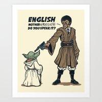 English - Do you speak it? Art Print