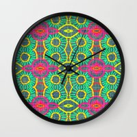 Denim Embroidery - Patte… Wall Clock