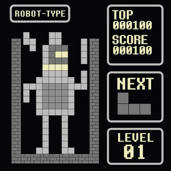 TETRIS: Robot Type Art Print