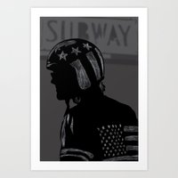 Strap Hanger Art Print