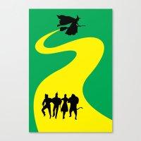 The Yellow Bricks Made a Road Canvas Print