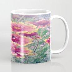 Multi Coloured Flowers with Bee Mug