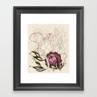 Peach And Purple  Artich… Framed Art Print