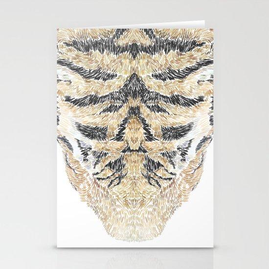 Tiger Head Stationery Card