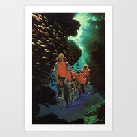 Bike Tour Art Print
