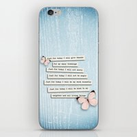Reiki Principles No.1 iPhone & iPod Skin
