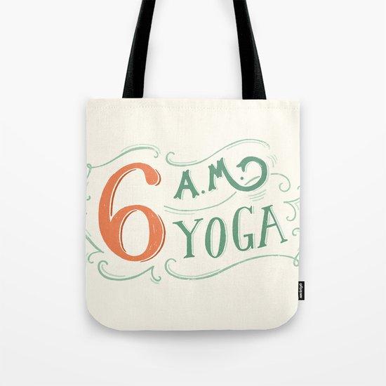6AM Yoga Tote Bag