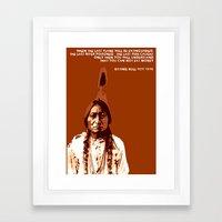 Sitting Bull Native Indian Framed Art Print