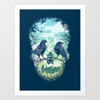 Nature's Skull Art Print