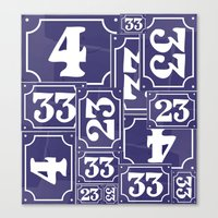 Enamel Number Plates Canvas Print