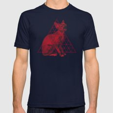 Sacred Sphynx Mens Fitted Tee Navy SMALL