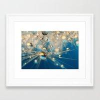 Dandy Drops In Royal Blu… Framed Art Print