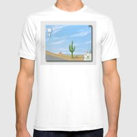 Google Street View Mens Fitted Tee White SMALL