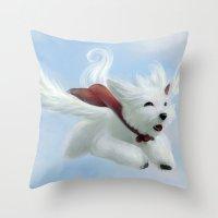 Super Puppy Throw Pillow