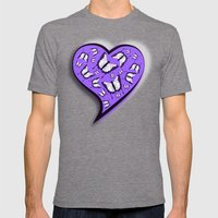 Pretty In Purple Butterf… Mens Fitted Tee Tri-Grey SMALL