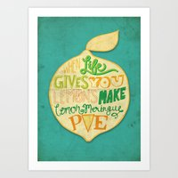 Lemon Meringue Pie Art Print