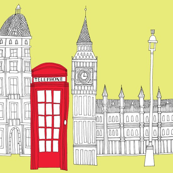 Capital Icons III // London Red Telephone Box Art Print