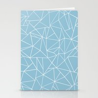 Abstraction Outline Sky Blue Stationery Cards