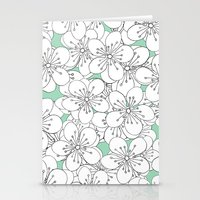 Cherry Blossom With Mint… Stationery Cards