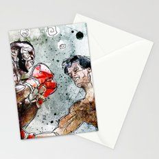 Boxing: Rocky Balboa vs Clubber Lang Stationery Cards