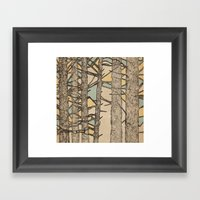 Stained Glass Trees Framed Art Print