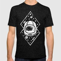 Space Traveller Mens Fitted Tee Tri-Black SMALL