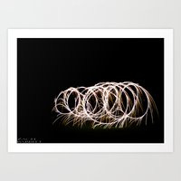 Sparklers in the Night Art Print