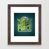 Dagobah Swamp Force - Te… Framed Art Print