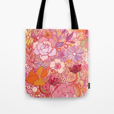 Detailed summer floral pattern Tote Bag