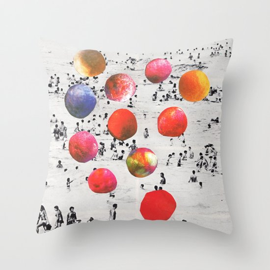 BEACH BALLS Throw Pillow