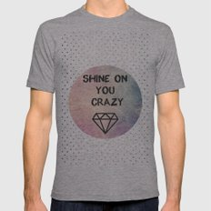 Shine on you crazy Diamond Mens Fitted Tee Athletic Grey SMALL