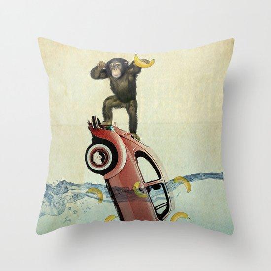 SAVE THE BANANA-S Throw Pillow