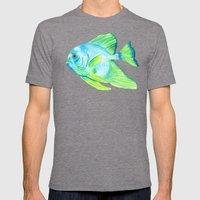 Buck and Wanda Mens Fitted Tee Tri-Grey SMALL