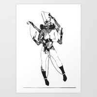 Bondage Burn Victim (Anthony Cooper) Art Print