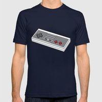 NES Mens Fitted Tee Navy SMALL