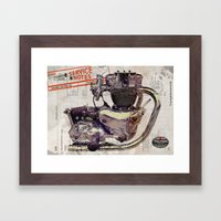 Triumph Bonneville Engine Framed Art Print