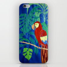 Il Pappagallo Felice (The Happy Parrot) iPhone & iPod Skin