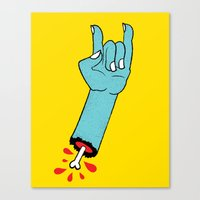 Throwin' Up The Horns Canvas Print